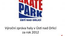 Zpráva o hale v Ústí nad Orlicí za rok 2012